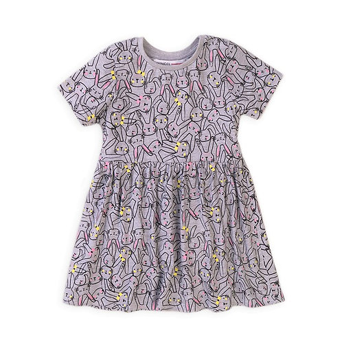 BUNNY GREY COTTON DRESS FROM 12 Months