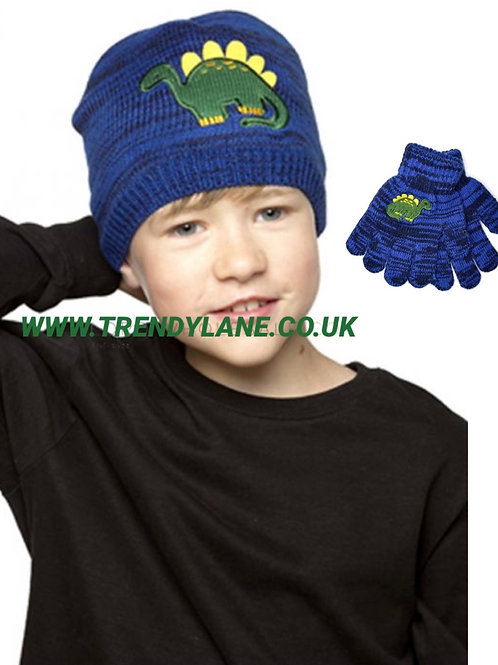 Boys Thermal Knitted Dinosaur Hat 2-6 Years