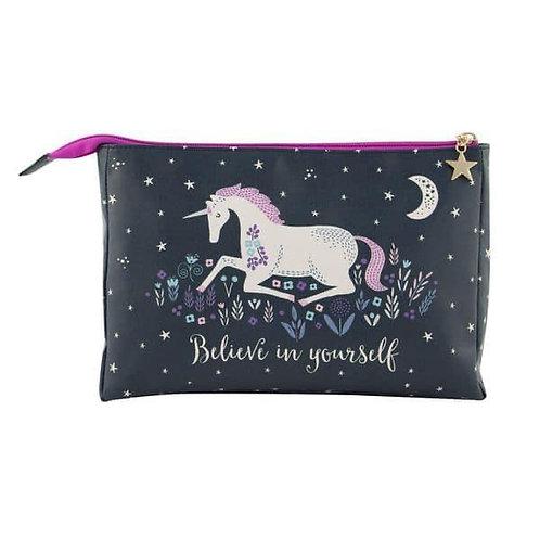 New Sass & Belle Starlight Unicorn Coin Purse Dark Blue Change Zip Wallet Gift