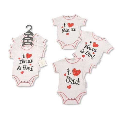Baby Bodysuits 3 Pack- Size: Newborn -6Months