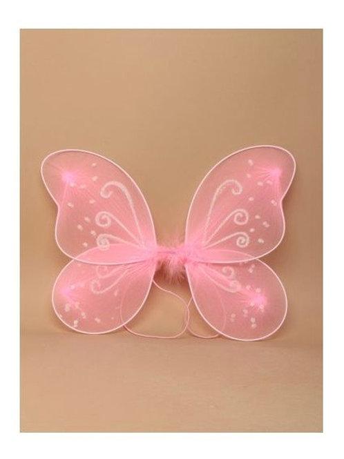 Pink Net Fairy Wings