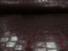 Искусстенная кожа Crocodile Shine Brown