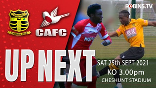 Robins looking to rebound at Cheshunt