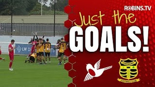 Three delightful goals from the Robins
