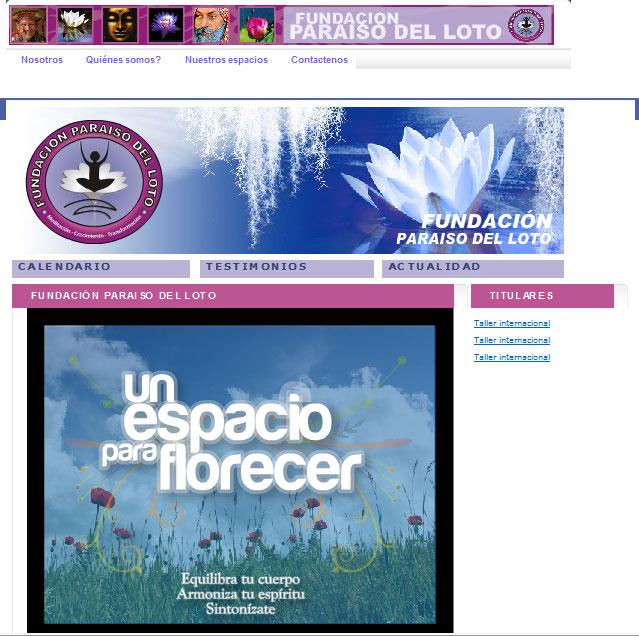 Diseño Web site paraiso del loto