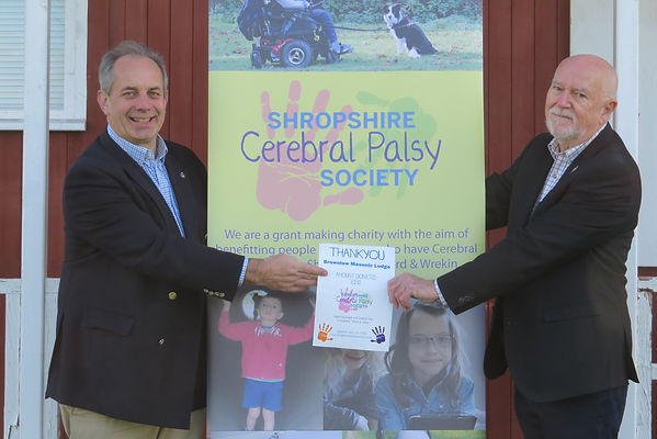 Brownlow Lodge Donation to Shropshire Ce