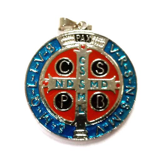 Medalha São Bento resinada Niquel