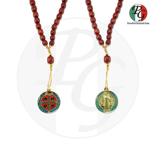 Terço bizantino p.b. grande com medalha