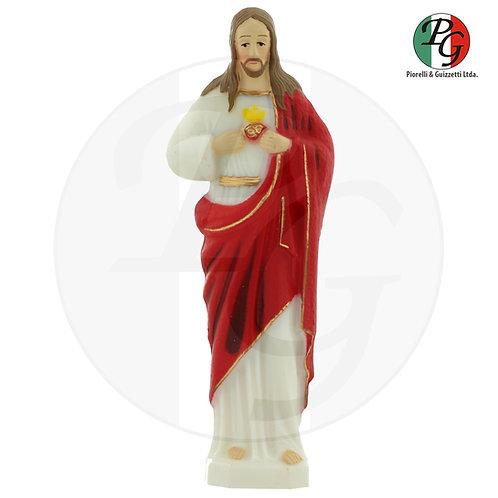 Imagem de plástico pintada Coração de Jesus