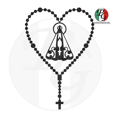 Adesivo para carro coração Aparecida