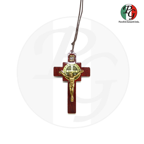 Cordão com cruz intercessor São Bento