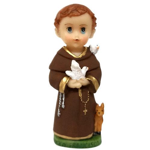 Imagem resina 7 cm criança Francisco