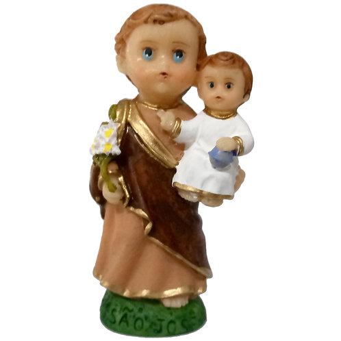 Imagem resina 7 cm criança São José