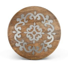"WOOD/METAL 18"" LAZY SUSAN"
