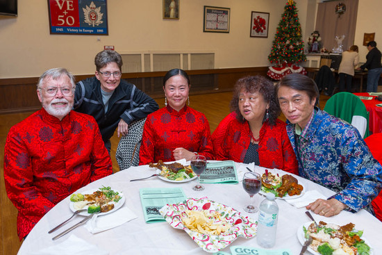 Ken, Judy, Lisa, Grace & ? (Christmas Party, 2013)