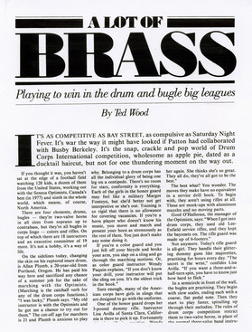 Part of an article from the August 20, 1978 issue of 'The City', published by Toronto Star