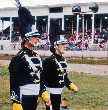 Mike Grimes, Drum Major and Keith Gallacher, Assistant DM of the Seneca Optimists (Simcoe, 1978)