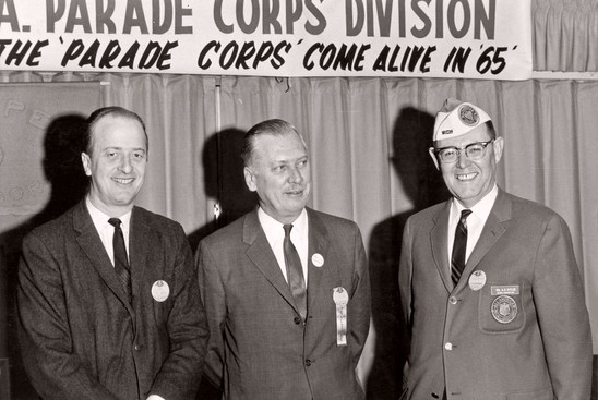 Mr Baggs with the Chief Judges of the NY & Michigan All-American Assn. (1965)