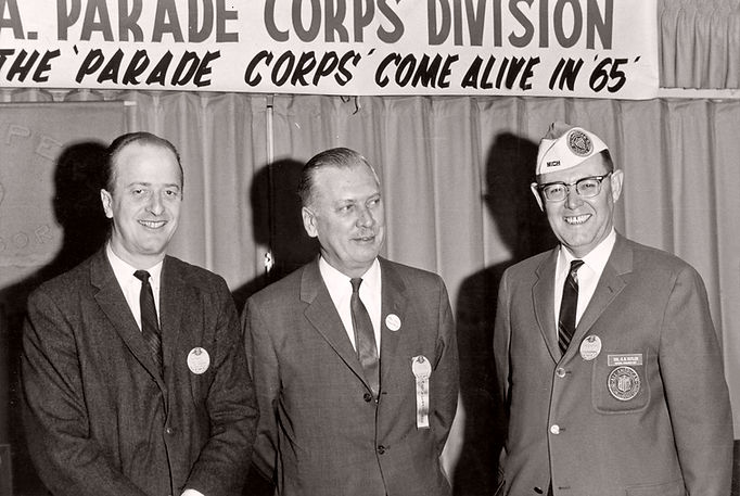 L-R: Al Tevels, NY; Mr Baggs; Col. G. Cutler, Michigan Submitted by Phil Hennings