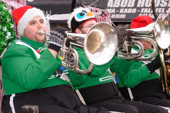 Kyle Howcroft and Matt, Optimists Alumni (Etobicoke Santa Parade, 2017)