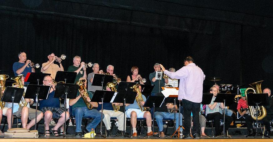 DOCA Brass Ensemble rehearsing (Simcoe, 2015)