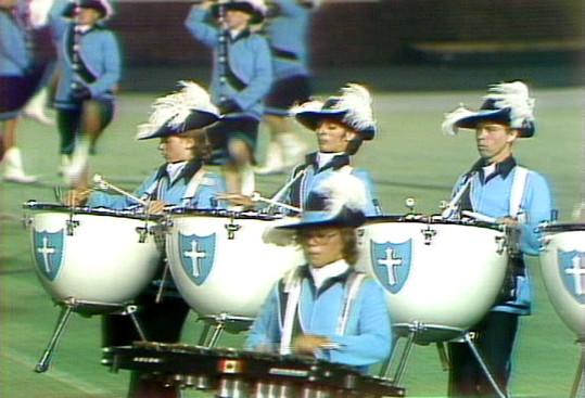 Carol Munro (in front, wearing glasses) Oakland Crusaders (DCI, 1976)