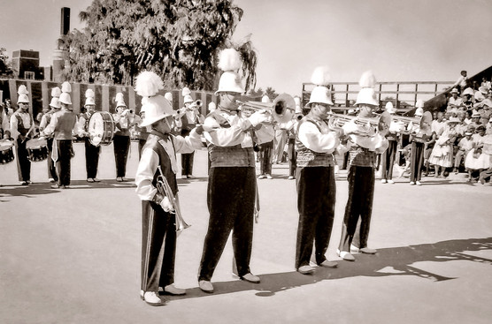 Dennis Roberts (soprano) & Rick Robida (one of the baritones), Grantham Police Boys Band (1960)