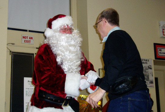 Santa with Toby Frechette, Belated Christmas party (Jan. 2008)