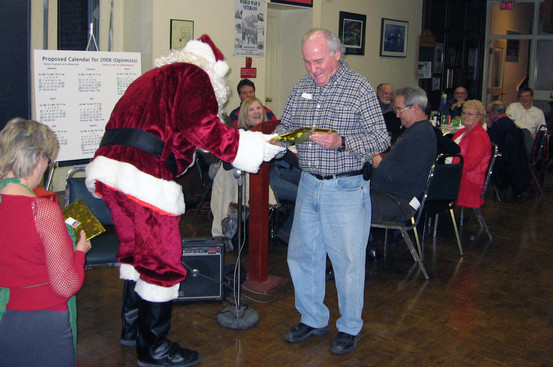 Santa  and Gord O'Halloran, January Party (2008)