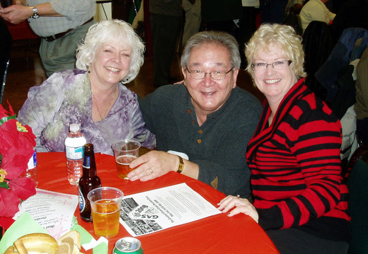 Ron Chong with Denise & Carol Tierney: January Party (2008)