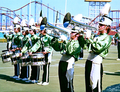 Optimists Alumni perform at a CFL Game (CNE, 1972)