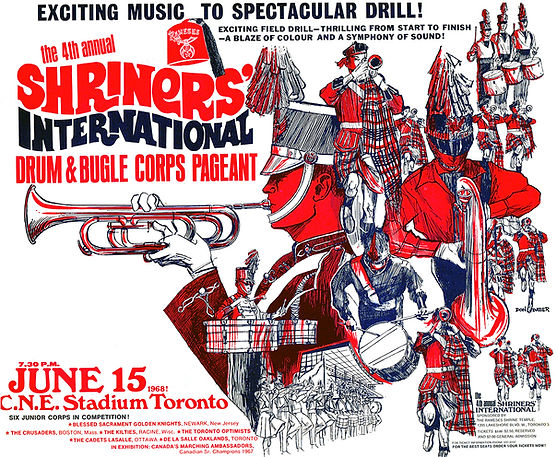 Don Daber's poster for 1968 Shriners' Contest