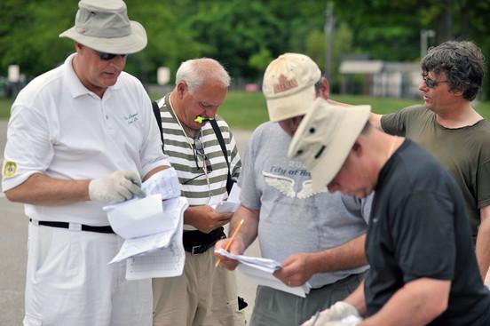 Mike Lang, Ed Finoro, Brian Adam, Joe Lasko and Sam Grosvenor, Optimists Alumni learning drill (Seneca College, 2010)