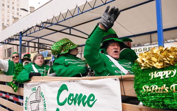 Mike, Liz, Heather and Rick, Optimists Alumni (Toronto St Pat's Parade, 2019)