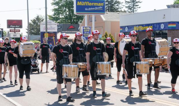 MM Robinson drumline (Woodstock, 2016)