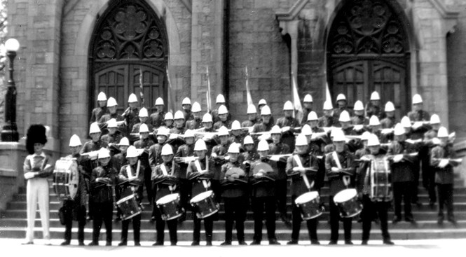 Grantham Police Boys Band (with Jack Roberts) (late 50s)