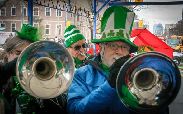 Liz, Mike and Bob, Optimists Alumni (Toronto St Pat's Parade, 2019)
