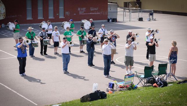 Optimists Alumni rehearsing (May, 2014)