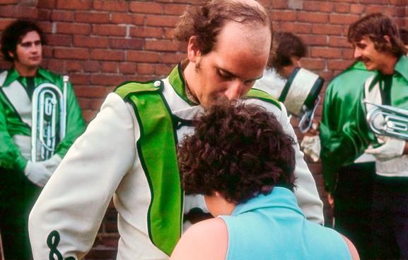 Peter Byrne was Drum Major for this show, Toronto Optimists (Brantford, 1975)