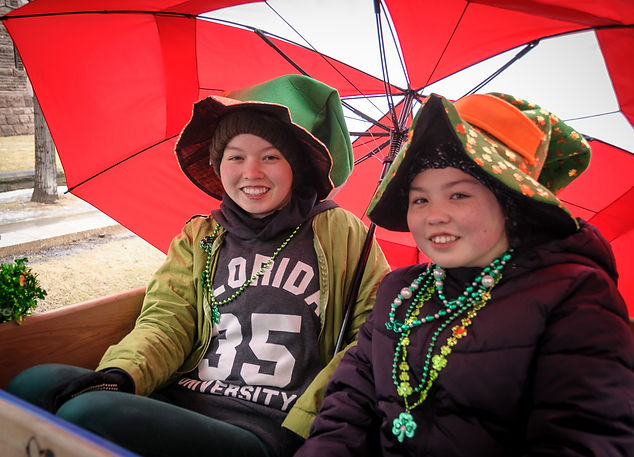 Laura and Lindsay, Optimists Alumni (Toronto St Pat's Parade, 2019)