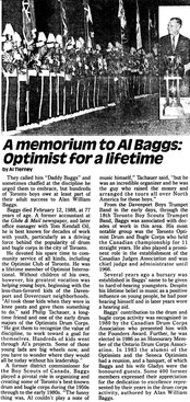 Article On Mr Baggs by Al Tierney