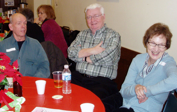 Al Miller, Jim Dwyer and Jim's wife, January Party (2008)