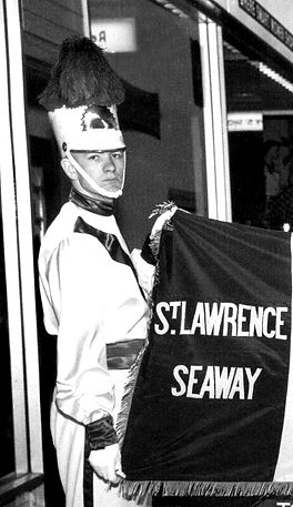 Toronto Optimists  At the ceremony when Optimists received the St Lawrence Seaway flag  From a photo submitted by Phil Hennings