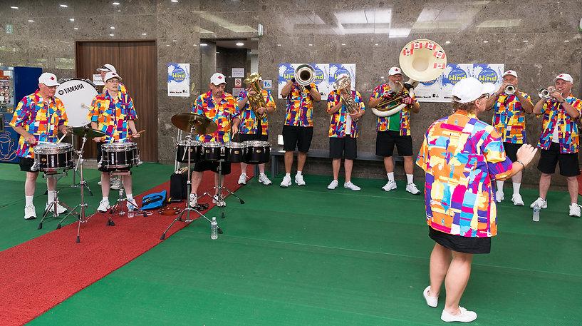 Optimists Alumni performing inside the City Hall (Seongnam City Hall, South Korea, 2017)