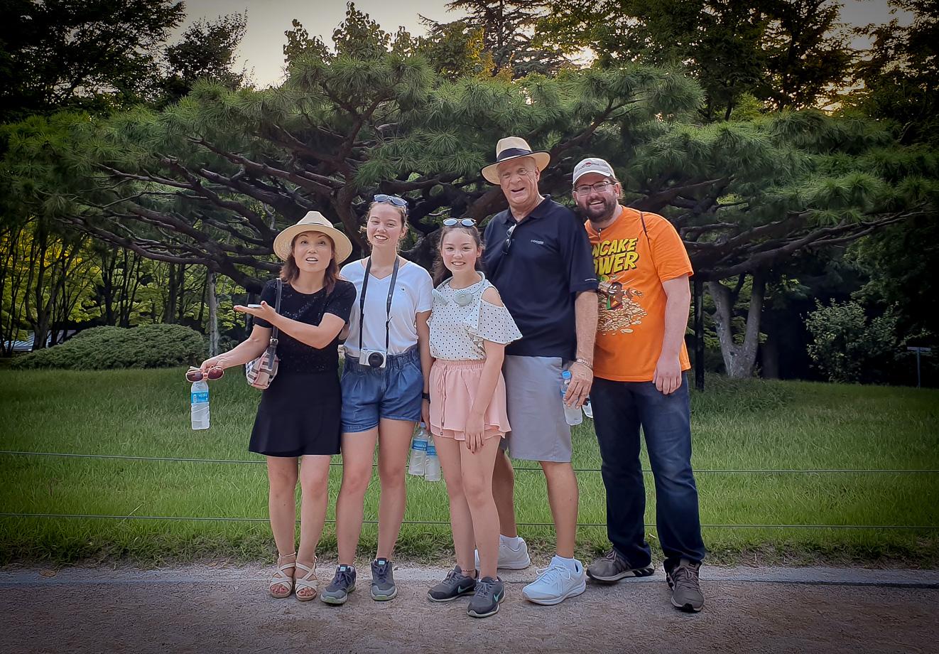 Soo, Laura, Lindsay, Mike and Matt, Optimists Alumni (Jeju, South Korea, 2019)