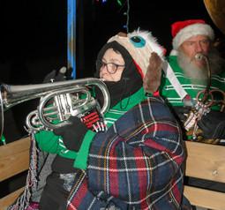 Heather and Keith, Optimists Alumni (Aurora Santa Parade, 2019)
