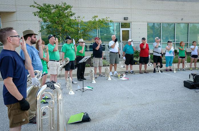 Optimists Allumni rehearsing (DCA, Annapolis, 2013)