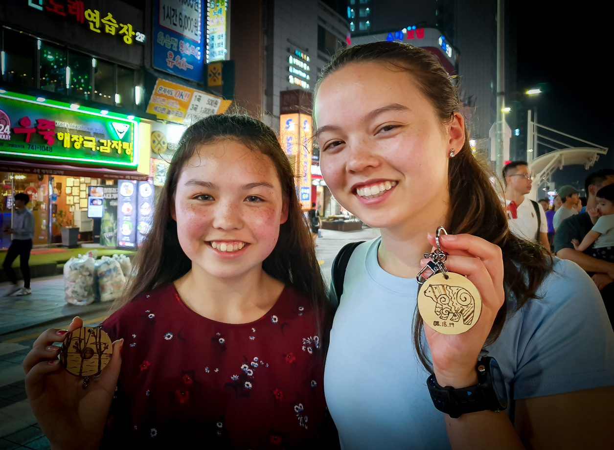 Lindsay and Laura, Optimists Alumni (Jeju, South Korea, 2019)