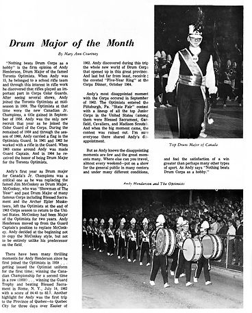 from Drum Corps Digest, March 1965