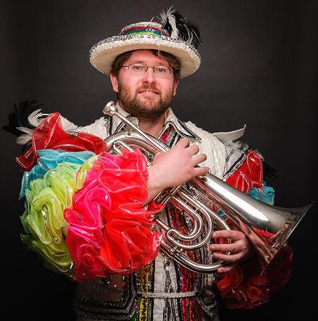 Matt Davis, Optimists Alumni (Mardi Gras costume, 2016)